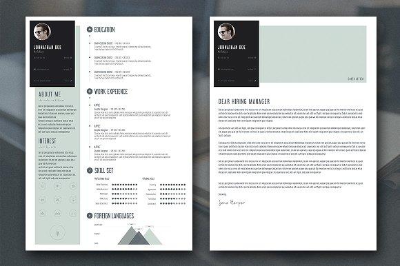 free minimal resume design