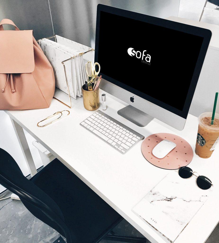 Girl Desk iMac Mockup Free Download