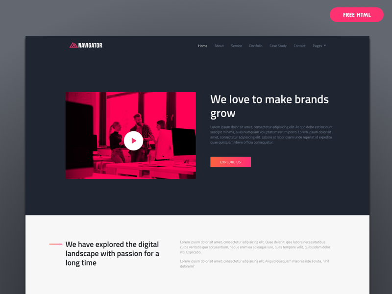 Free Bootstrap4 HTML Template