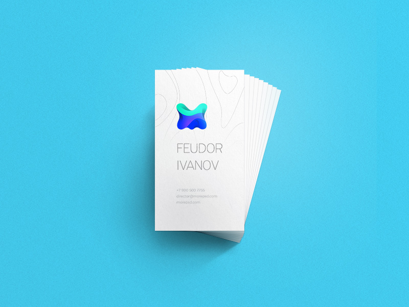 Free Business Card Mockuo