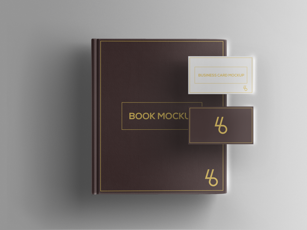 Free Book and Business Card PSD Mockup | Creative Sofa