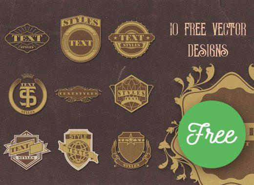 Free Vector Vintage Badges PNG