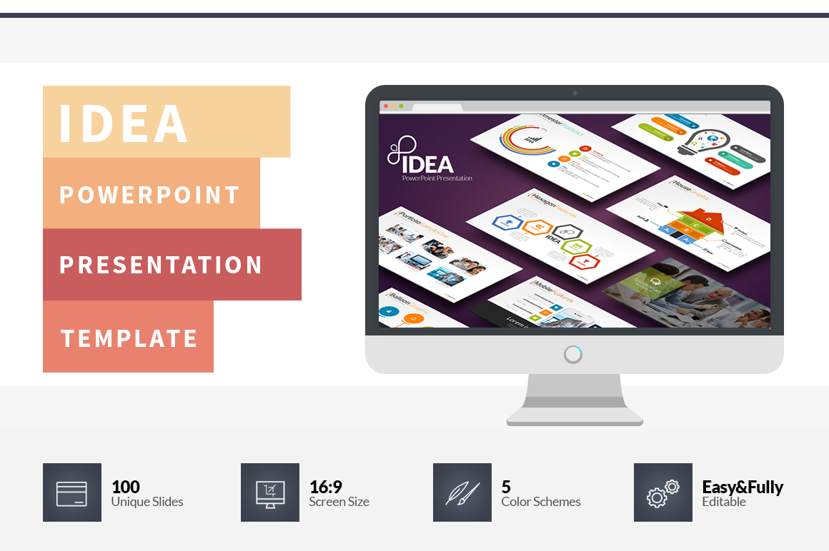 idea premium powerpoint presentation template creative sofa