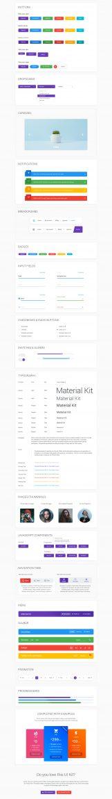 Material Design Ui Kit free PSD