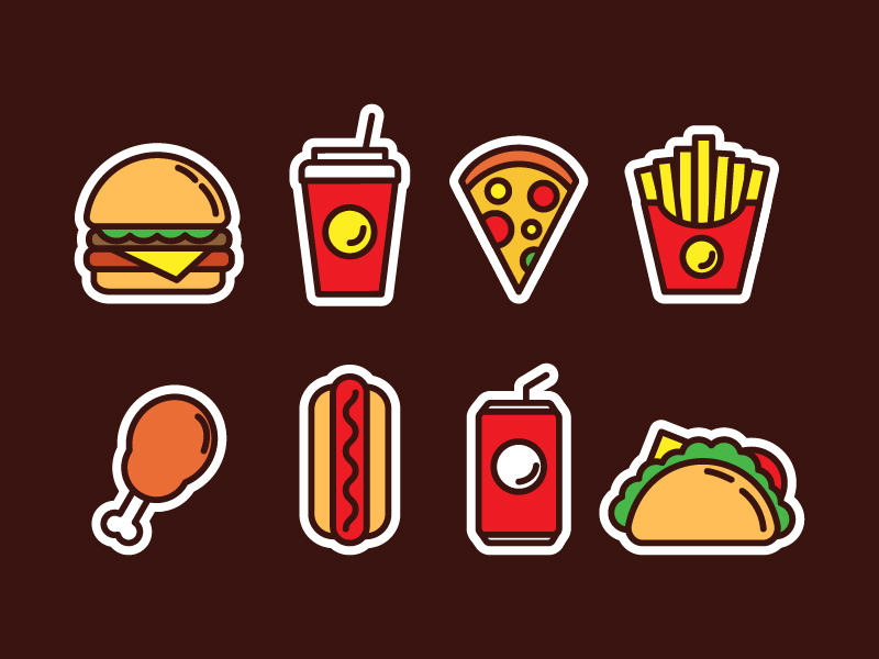 Free Fast Food Icons