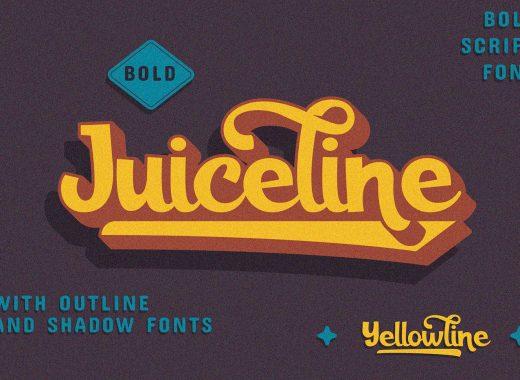 Juiceline Free Bold Script