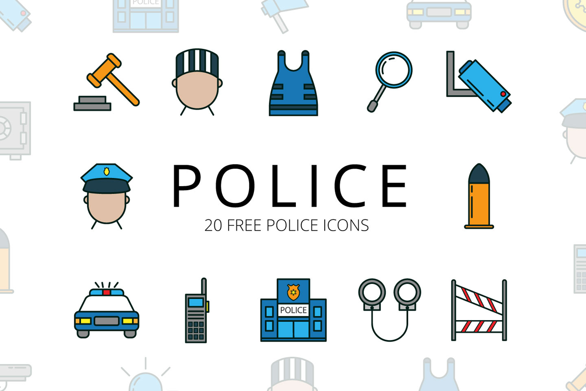 Police Vector Free Icon Set | Creative Sofa