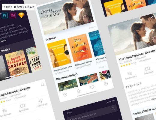books app free ui kit