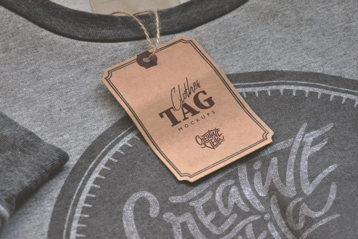 Clothes Tag Mockup