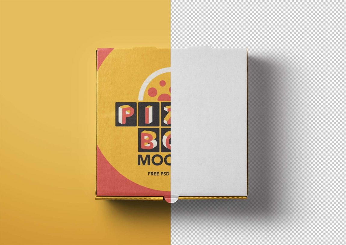 Free Pizza Box Package Mockup