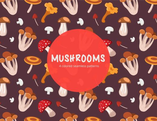 mushrooms pattern free