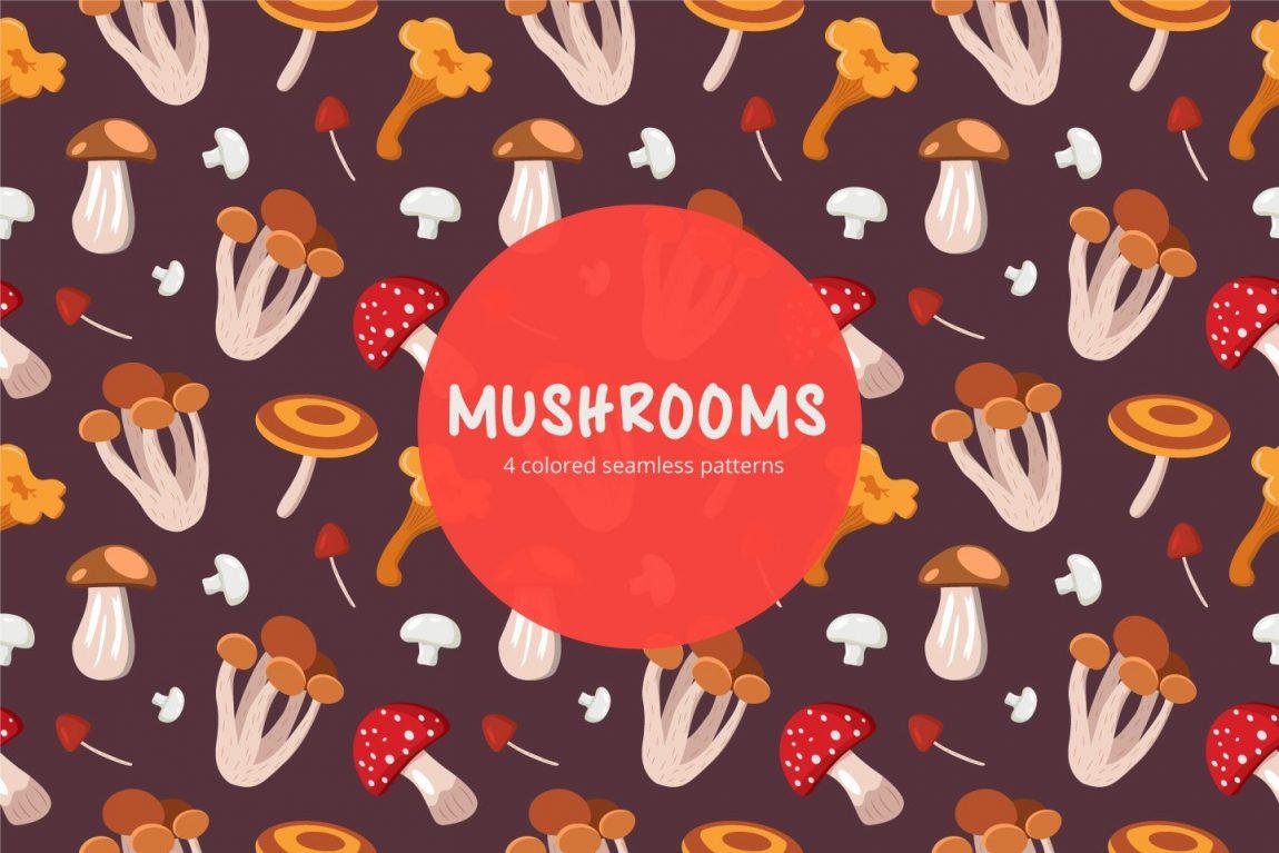 mushrooms pattern free