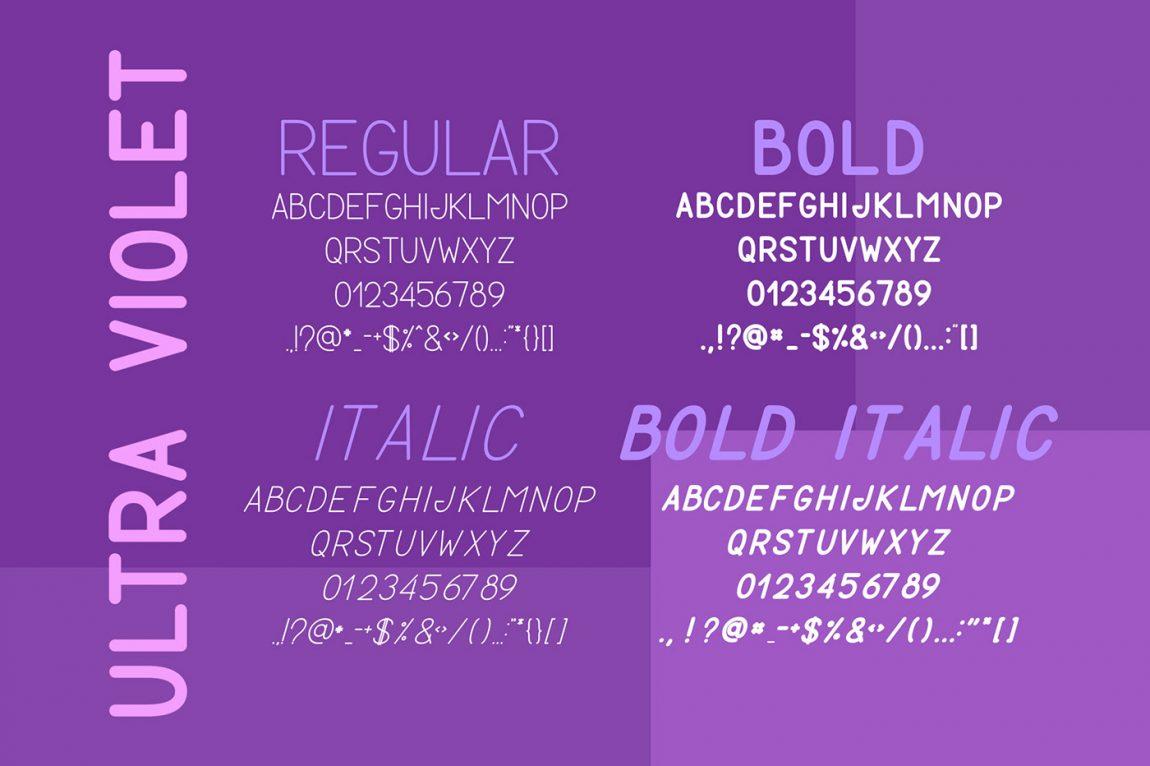 ultra violet free font