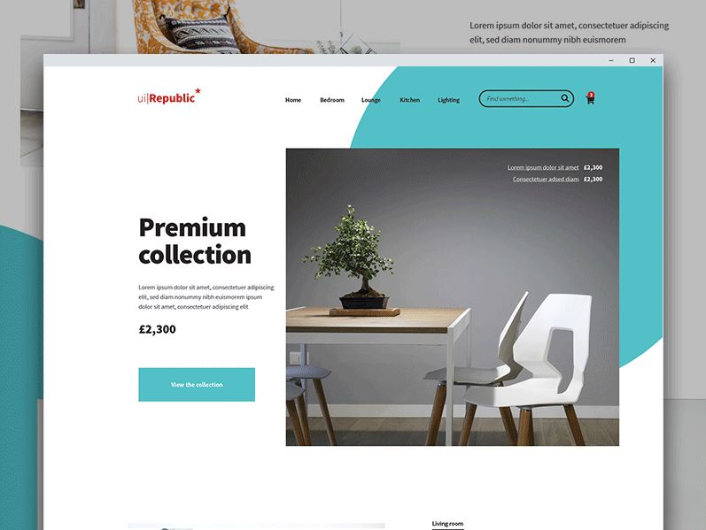 Free Furniture Website PSD Template