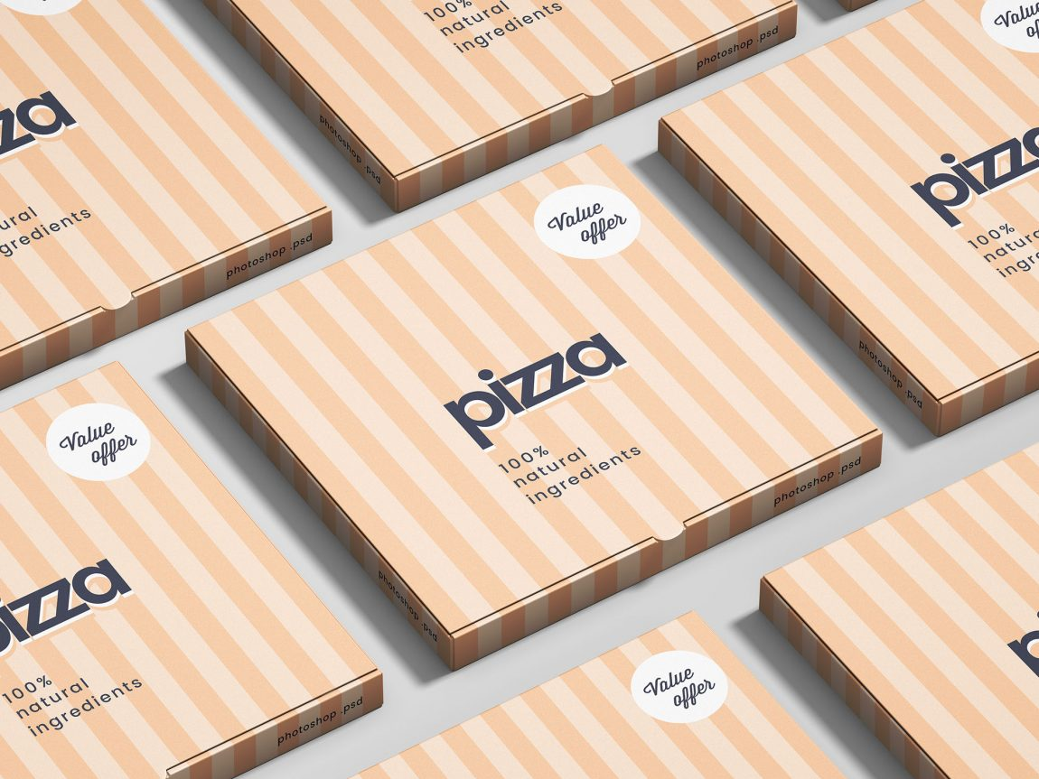 Simple Pizza Box Mockup