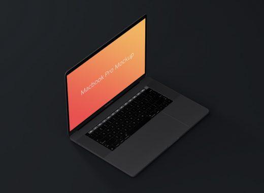 MacBook Pro Isometric Mockup