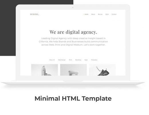 Free Minimal HTML Template