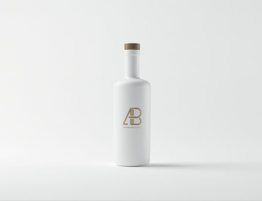 Matte White Bottle Mockup