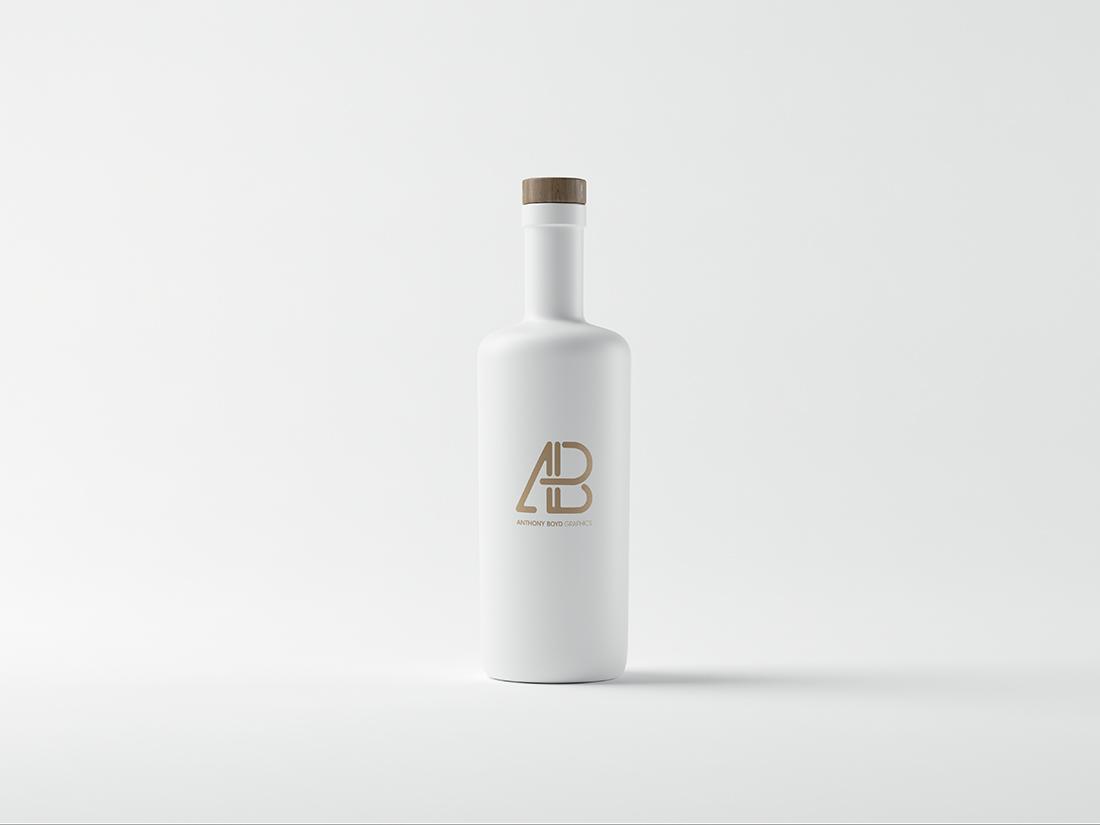 Matte White Bottle Mockup