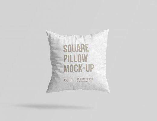 Square Pillow Mockup