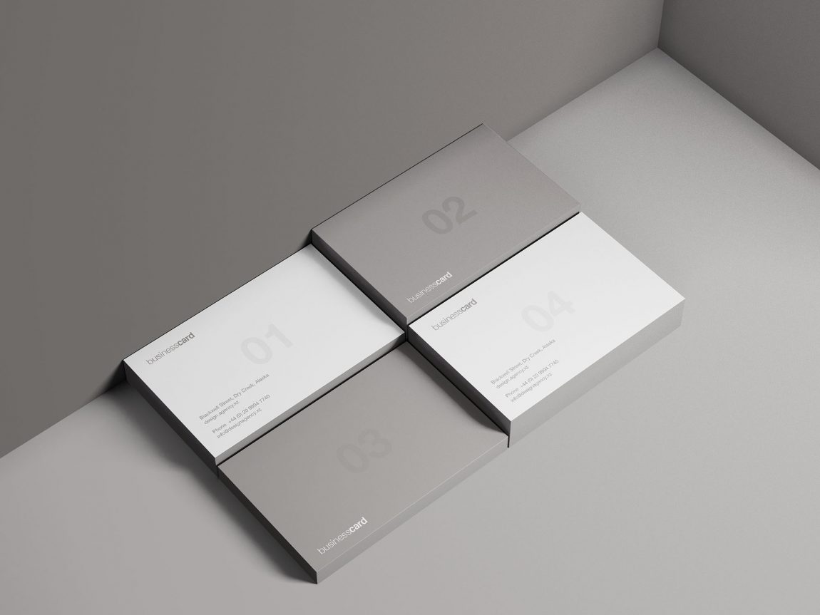 free minimal business card mockup