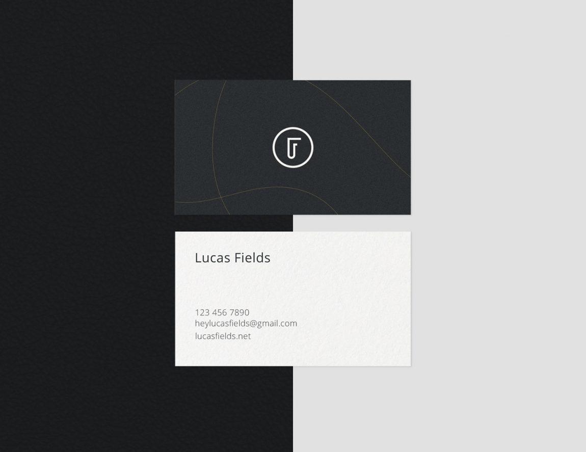 Minimalist Business Card Mockup Bundle