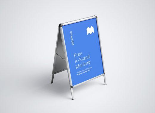 Free A-Stand Mockup