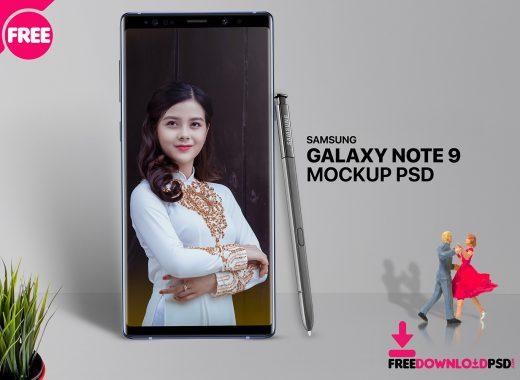 Free Galaxy Note 9 Mockup PSD
