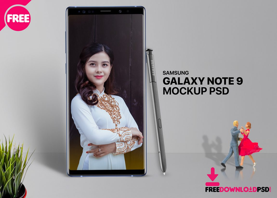 Free Galaxy Note 9 Mockup PSD