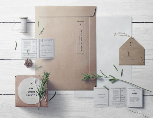 free craft branding mockup set