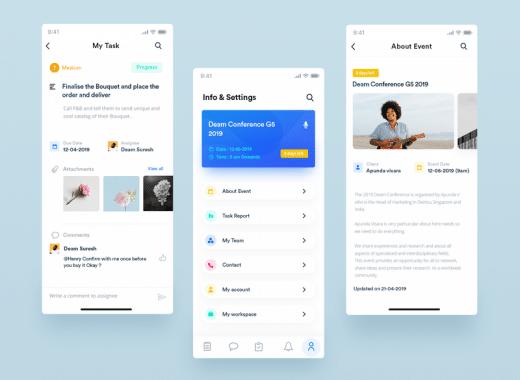 event app UI design
