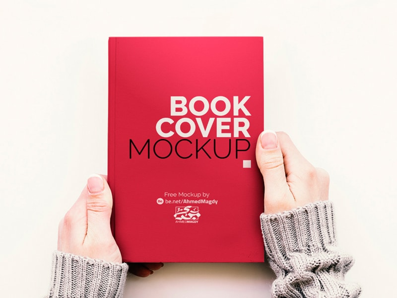 floating notebook mockup free psd