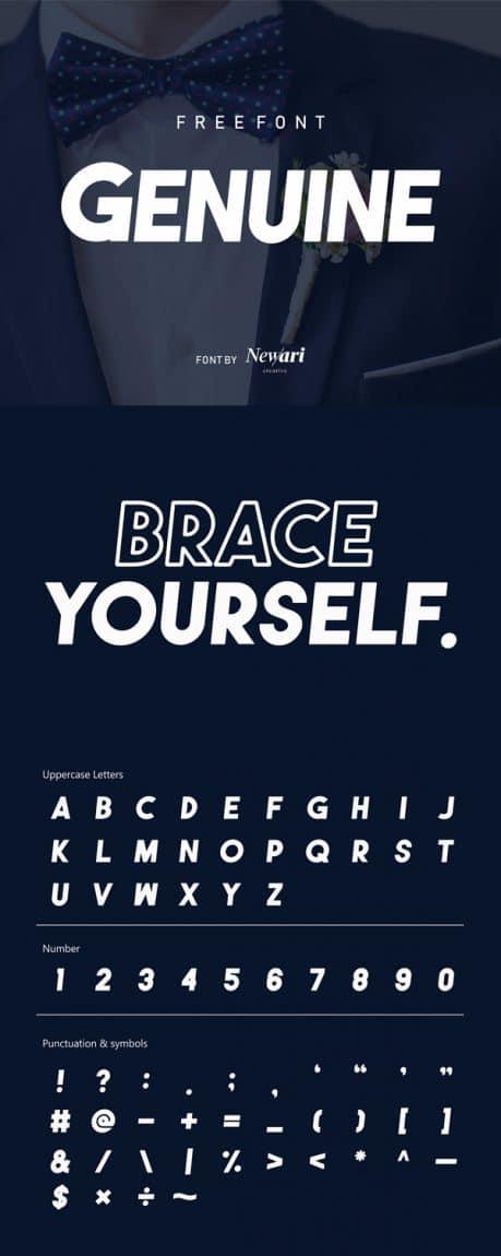 Genuine font free download