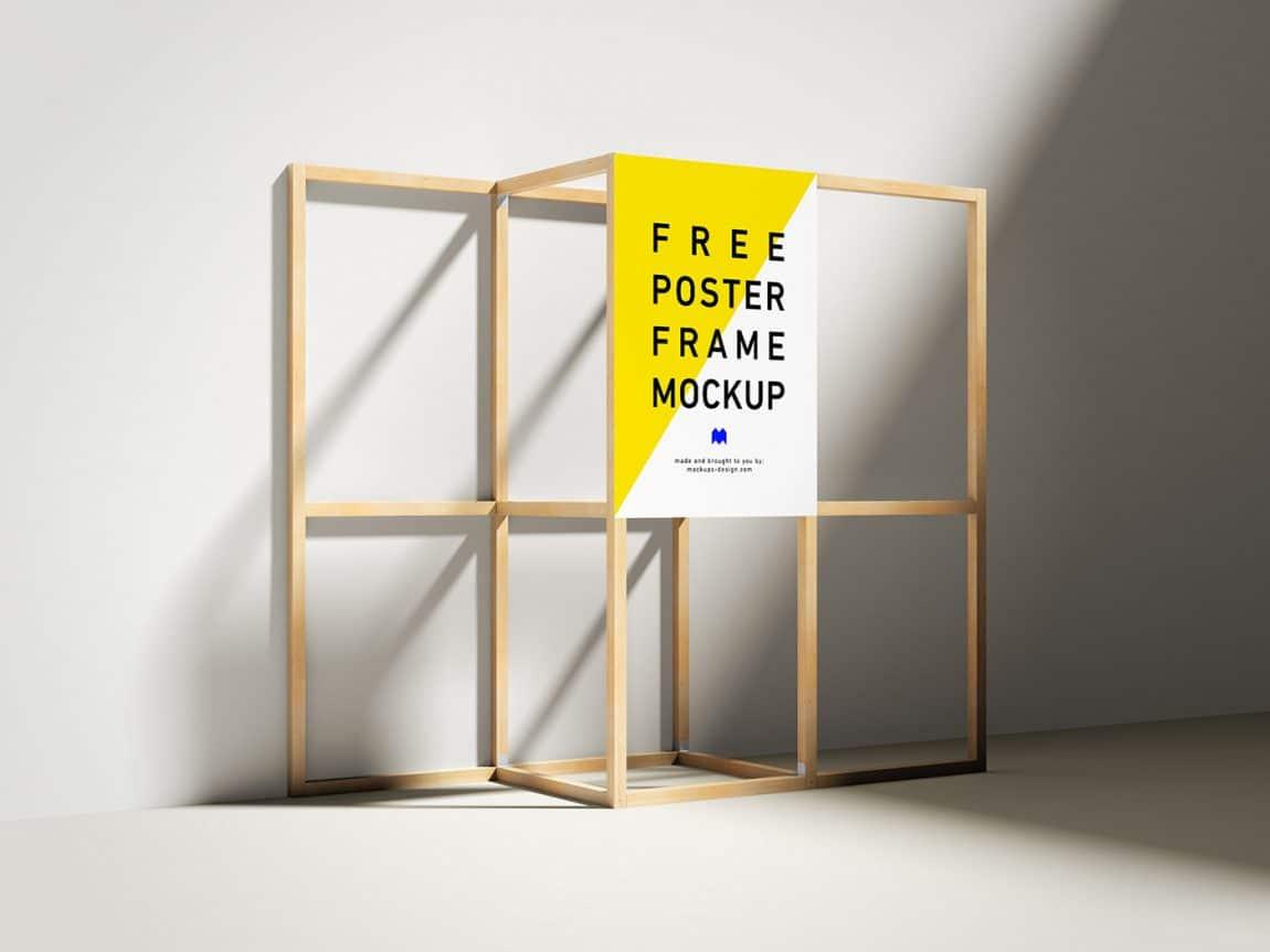 Poster Mockup Free PSD