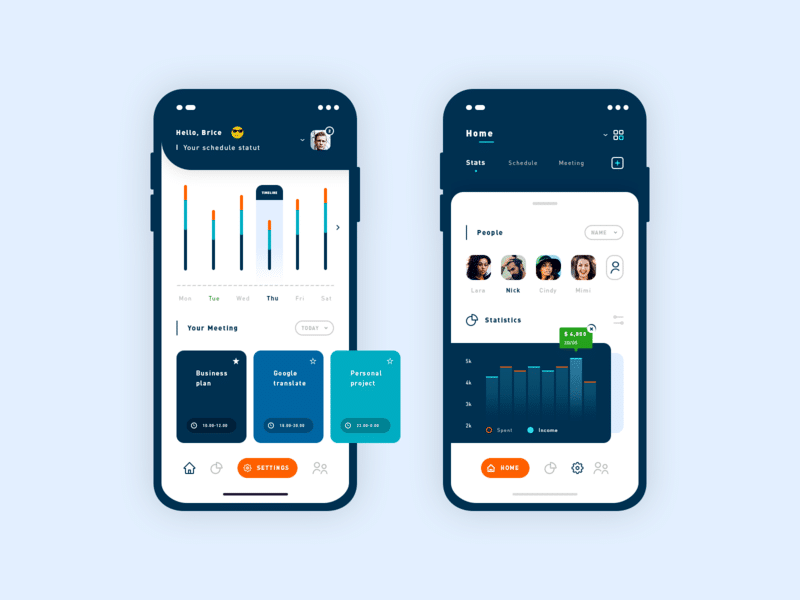 Hot Schedule App free psd