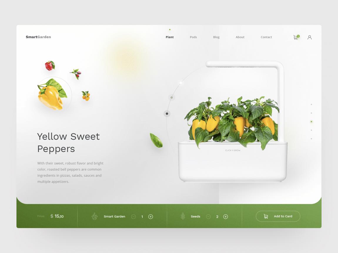 garden website free ui