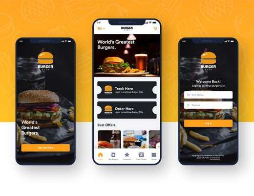 food app free ui kit xd