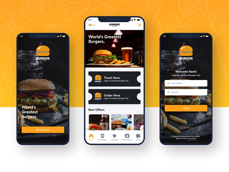 Free Food App Adobe XD UI KIT | Creative Sofa