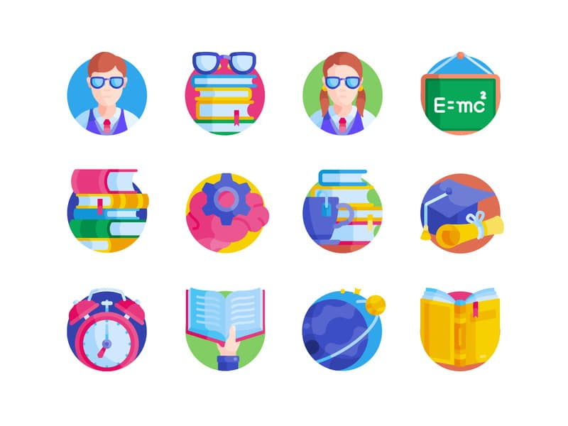geek icons flat free