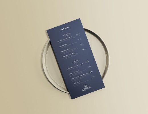 menu mockup free psd