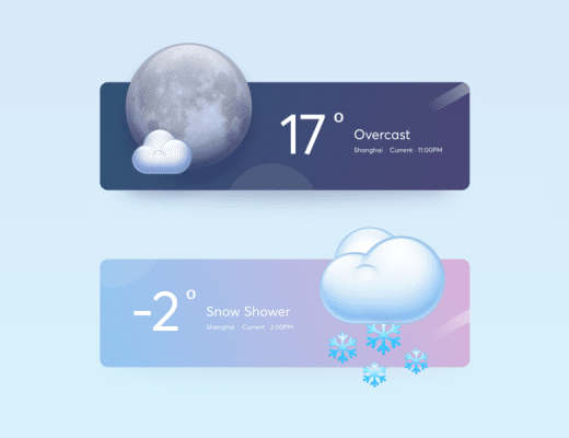 Free Weather Widget PSD