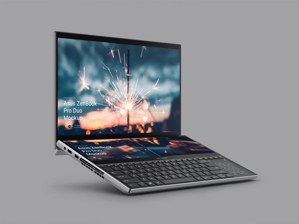 ZenBook Pro Duo Laptop Mockup