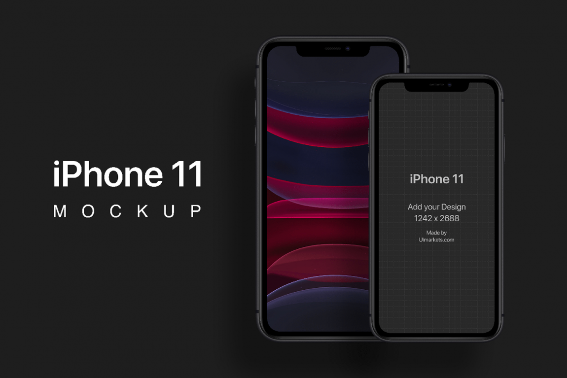 iPhoneX On Desk Mockup Free PSD