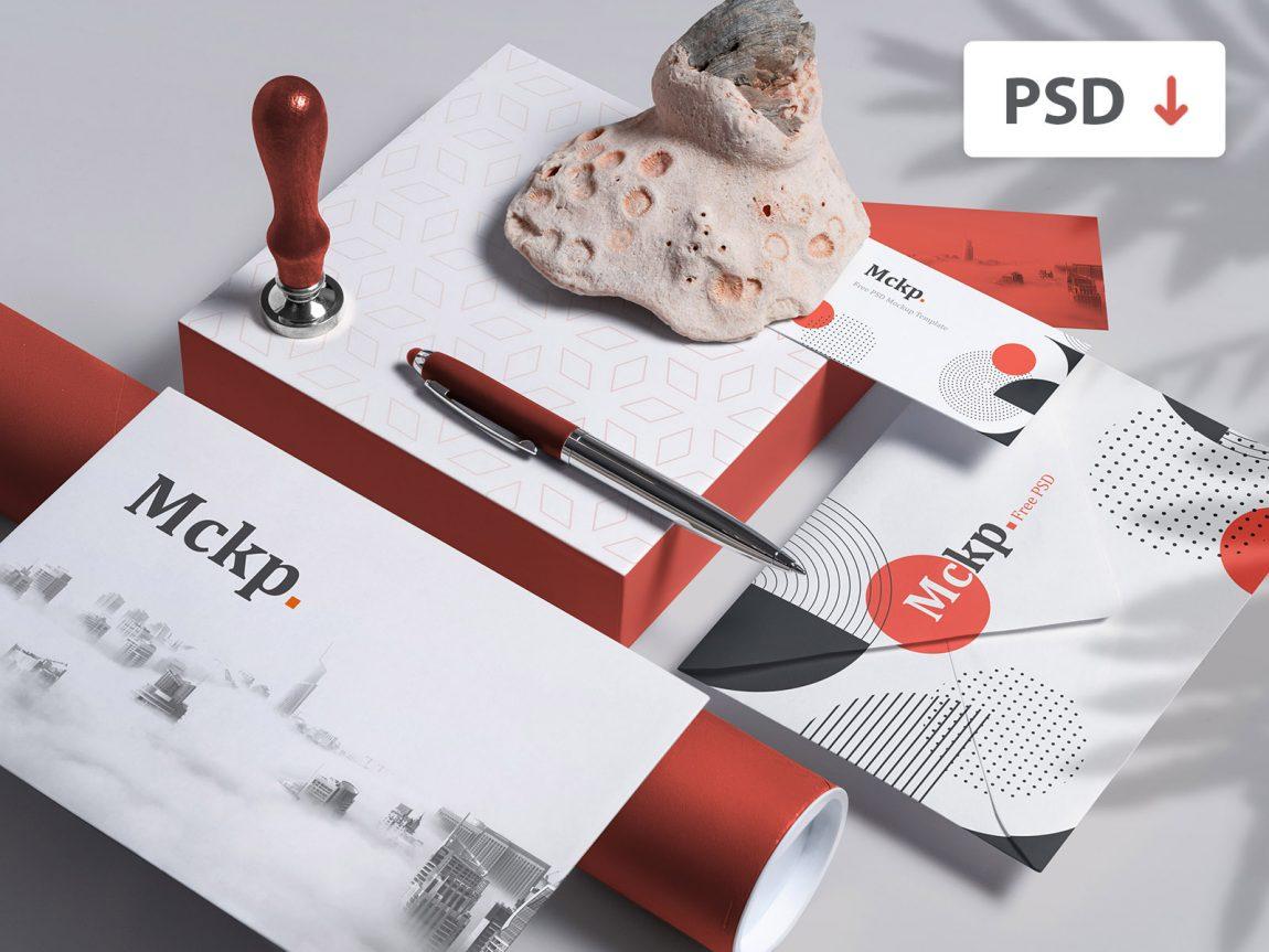 free branding mockup set