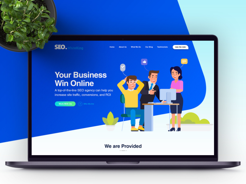 free weo agency website template Adobe XD