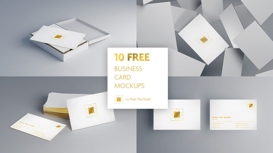 free premium business card mockup