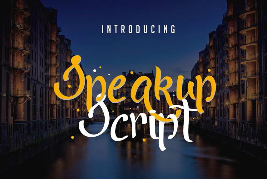 Speakup-Script-Font free download font handwritten font family download