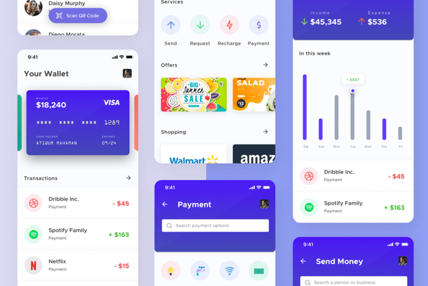 mobile-wallet-cryptocurrency-mobile-app Sketch file UI Mobile app kit