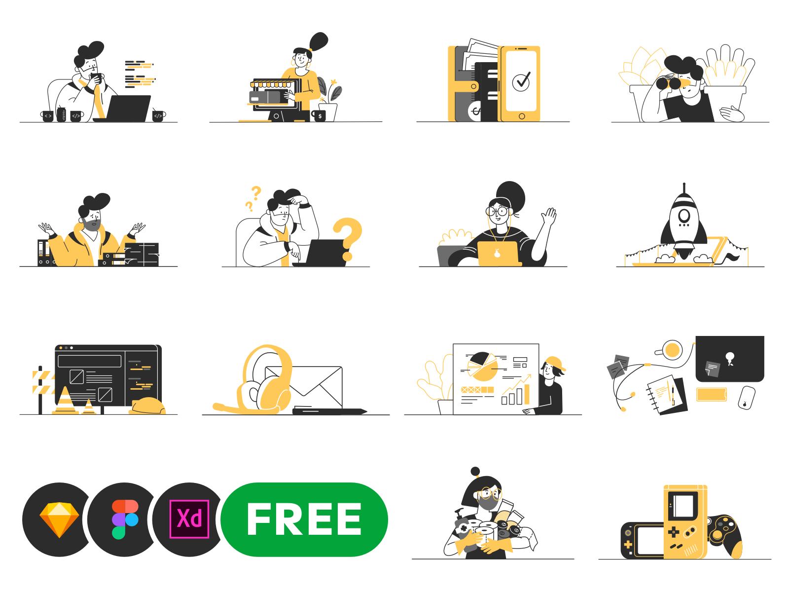Free Customizable Vector Illustrations